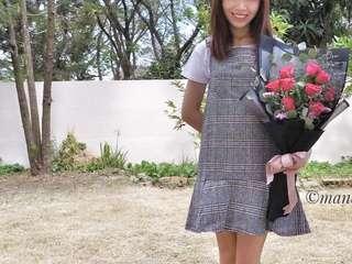 Grey onepiece jumpsuit dress