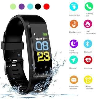 New Fashion Coloured Waterproof Smart Bracelet Sport Smart Watch Heart Rate Fitness Tracker Smart Wristbands Color Screen Smartwatches for Android IOS Smart Band - 115 Plus For Sale
