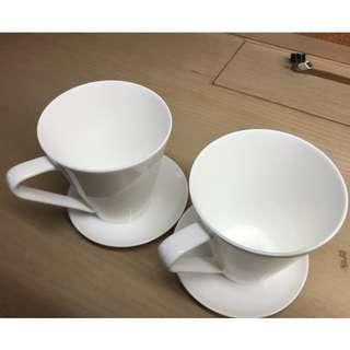 Nikko - Coffee Cup Set.  (Cup + Saucer) * 2