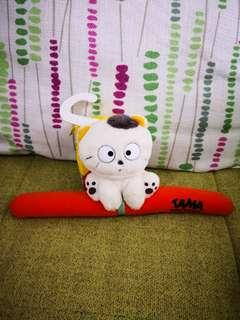 日本sanrio絕版Tama & Friends 貓狗寵物街1995年靚靚膠毛公仔衣架(罕有)