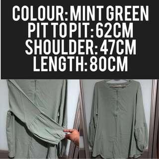 Mint green top
