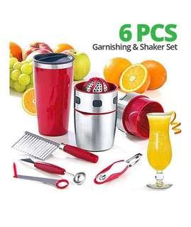 Pro V Juicer 6 Pcs Garnishing & Shaker Set For Extracting & Decorating Fruits & Vegetables