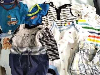 FREE Baby rompers long pants shirts socks hats singlets