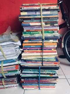 Buku bekas pelajaran jenjang smp-sma