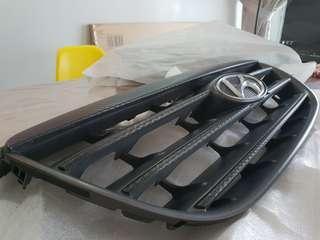 Hyundai avante carbon fiber wrapped front grill