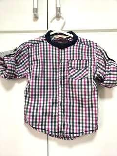 Baby checkered top great for cny