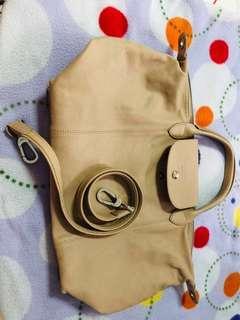 Longchamp Le Pliage Cuir (medium)
