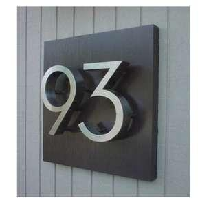 🆒🆕 Brushed Stainless Steel Modern House Numbers Custom Made Available