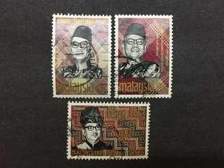 Malaysia 1969 Solidarity Week Prime Minister Complete Set - 3v Used Stamps