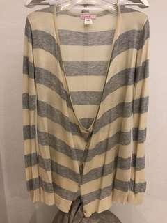 Stripe Oversize Cardigan