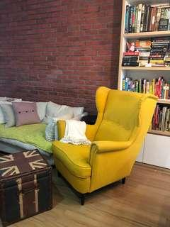 Ikea Strandmon Wing Chair Yellow