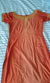 Orange Sari dress set