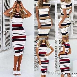Women stripes dress