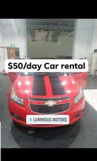Red hot CHEVROLET CRUZE for rent