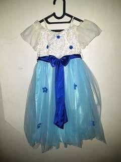 Dress Princess Anak Blue