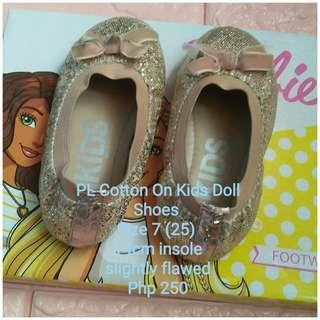 PL Cotton On Kids Doll Shoes (Size 7)