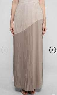 Aere Vera Suede Pleated Skirt in Mauve (Free post)