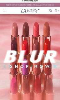 ColourPop Blur Lux Lipstick預訂