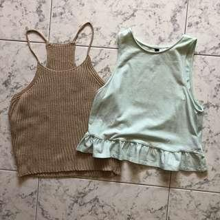 [2 for $6] Basic Crop Tops Knitted