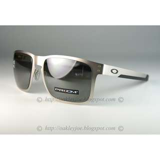b9c79f0f75 BNIB Oakley Holbrook Metal satin chrome + prizm black polarized OO4123-0955 sunglass  shades