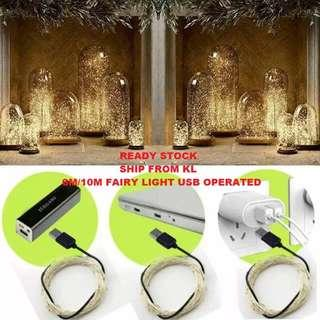 6/10 Meters USB Copper or Silver Wire Fairy Lights