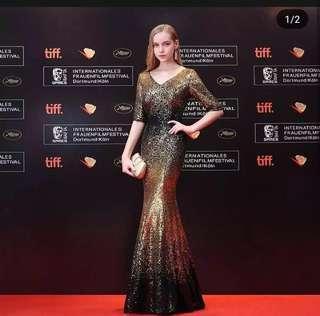 (RENT RM30) Gold Black Sequin