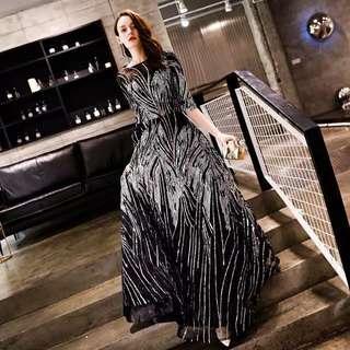 (RENT RM30) GLITTER BLACK DRESS