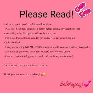 PLEASE READ!!