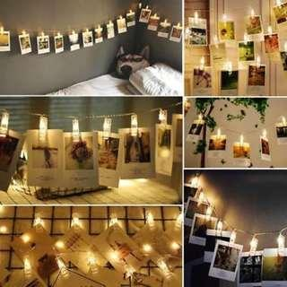 5 Meter 50 Photo Clip LED Battery Operated Fairy Lights