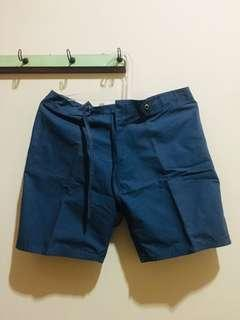 Celana Bahan Pendek Biru