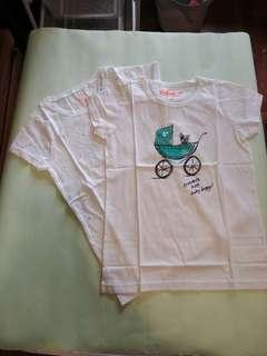 女童 T-shirt ( T 恤 ) 2件