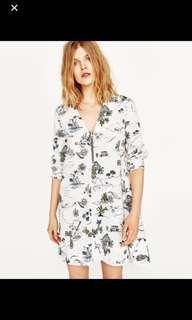 Zara Cactus Print Tunic Dress