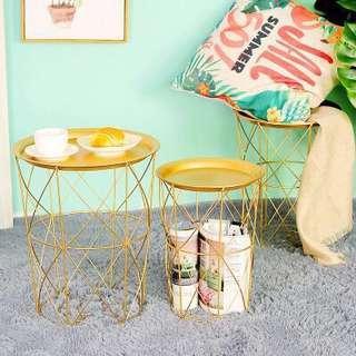 *BNIB* Nordic Design Minimalist Gold Side Table