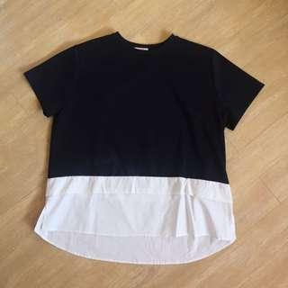 Black & White Boxy Top