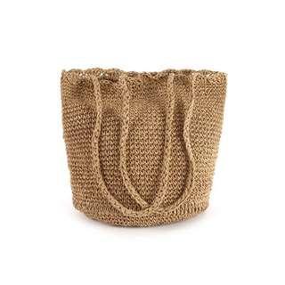 Woven Straw Shoulder Bag