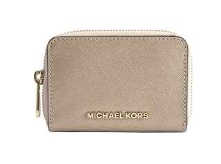 Michael Kors Jet Set Travel Zip Around Card Case / Coin Purse