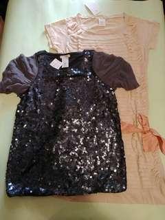 女童珠片上衣 + 連身裙