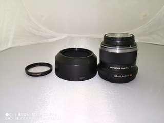 Olympus 45mm f1.8 with b+w filter