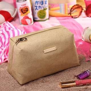 Last Pc Instock! VS Victoria's Secret Glitter Glamour Canvas Cosmetic Pouch / Case (Gold) *GWP*  ASC3180 + FREE Post