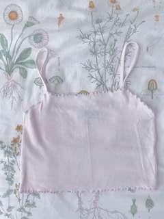 Topshop petite pastel pink cropped top