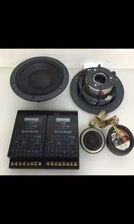 "Dynaudio System 240MKII 7"" 2-way Component System, car Radio And Audio System"