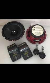 "CDT Audio Components Speaker, CL-61A.2-25 PRO - CDT Audio Classic 2-Ohm 6.5"" 2-Way Component Speakers, car Radio And Audio System"
