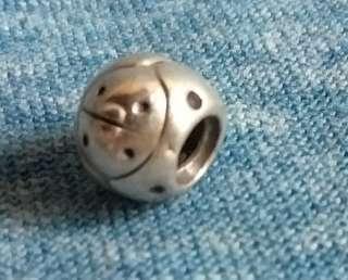 Pandora genuine silver retired charm Ladybird