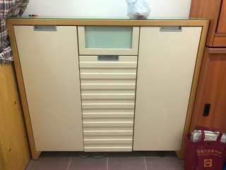 實木 鞋櫃 wood cabinet