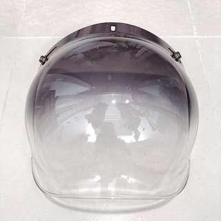 Half tinted bubble visor ( centre button missing )