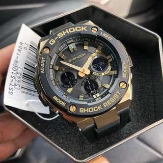 🔥🔥100% Authentic Casio Gshock GSTEEL Black Gold GSTS100G with FREE DELIVERY 📦 Steel Series G-Shock