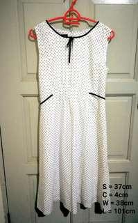 White Polkadot Dress