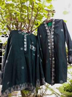 (OFFER) Busana Pengantin Songket Mampu Milik (Emerald Green)