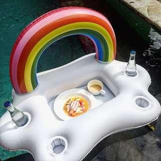 Rainbow Cloud Inflatable Cup Drink & Food Holder