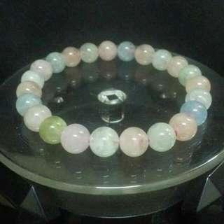 """8mm摩根石手串 8mm Morganite Stone Bracelet """"Love Stone"""""""